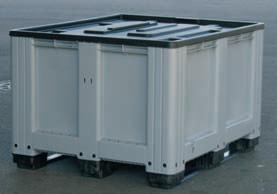 logistikbox transportbox palettenbox 610 liter m deckel ebay. Black Bedroom Furniture Sets. Home Design Ideas