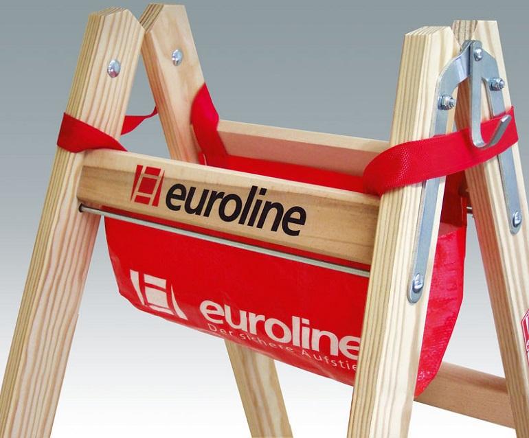 euroline holzleiter 10504 sprossenstehleiter bockleiter. Black Bedroom Furniture Sets. Home Design Ideas