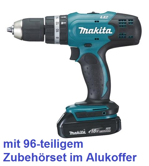 makita akkuschrauber dhp453ryx2 schlagbohrschrauber 18 volt zubeh r dhp453 ebay. Black Bedroom Furniture Sets. Home Design Ideas