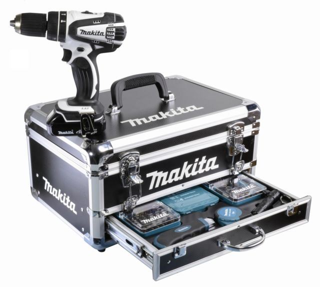 makita dhp456rhw1 bhp456 in wei akkuschrauber akku schlagbohrschrauber 18 v ebay. Black Bedroom Furniture Sets. Home Design Ideas
