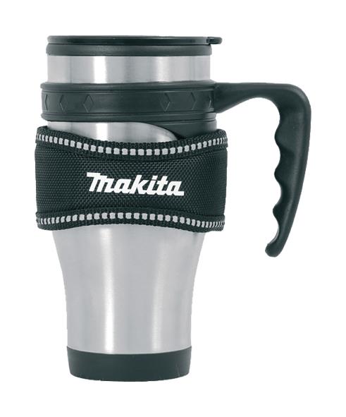 makita thermobecher kaffeebecher p 72198 mit halter ebay. Black Bedroom Furniture Sets. Home Design Ideas