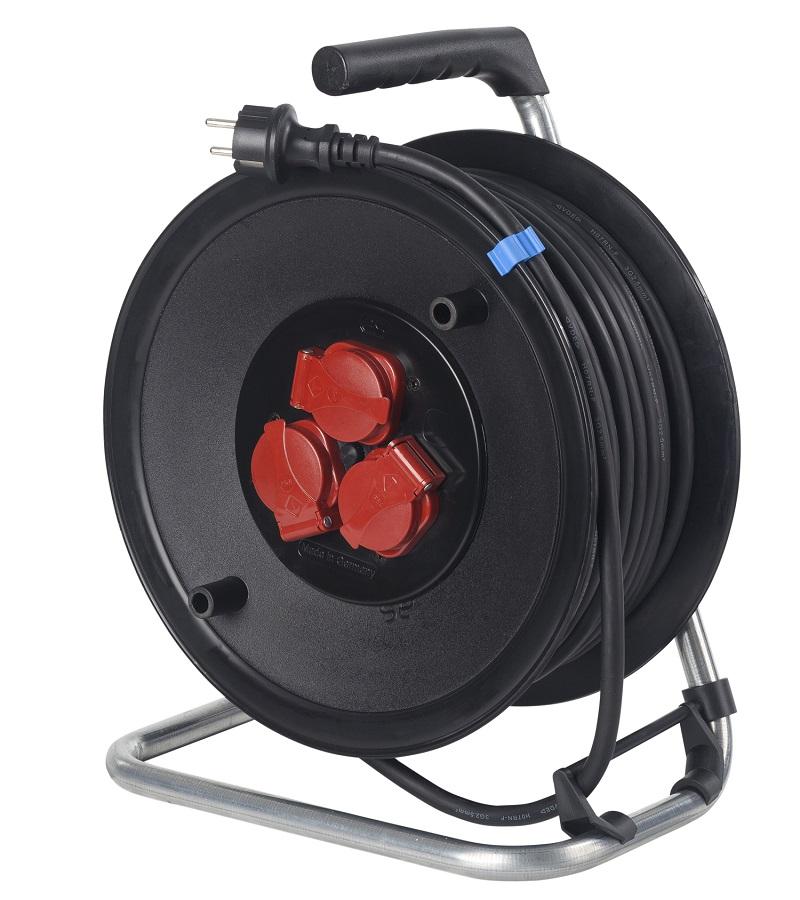 kabeltrommel f r au en und baustelle 25 meter kunststofftrommel schwabe 10128 ebay. Black Bedroom Furniture Sets. Home Design Ideas