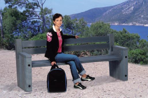 recycling kunststoff parkbank gartenbank modell palermo ebay. Black Bedroom Furniture Sets. Home Design Ideas