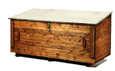 fahrzeugbox werkzeugkiste f r ladepritsche aus holz ebay. Black Bedroom Furniture Sets. Home Design Ideas